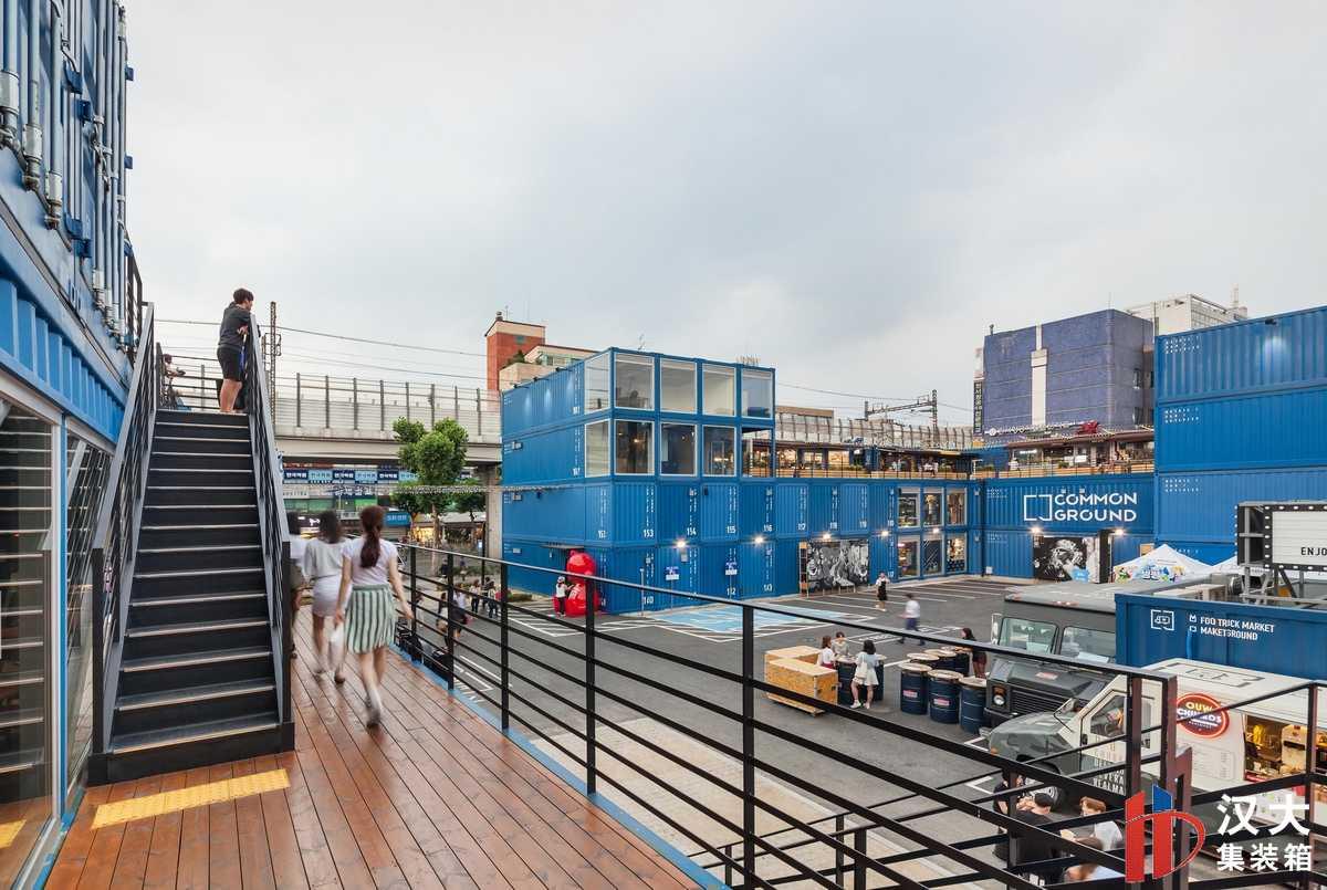 """商业集装箱案例:韩国首尔Common Ground""""集装箱""""商业建筑"""