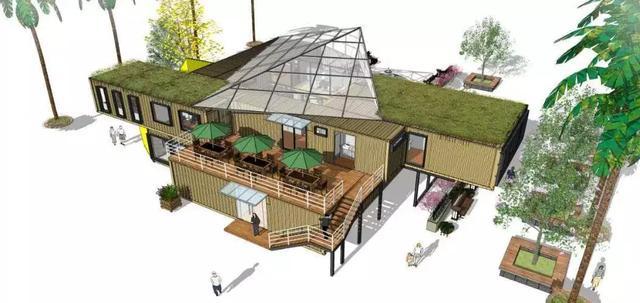 集装箱酒店别墅 低碳环保的装配式移动住房