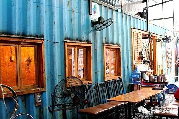 集装箱咖啡馆工艺风满满的,绝了